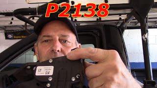 2009 Chevy Silverado P2138 Accelerator Pedal Position