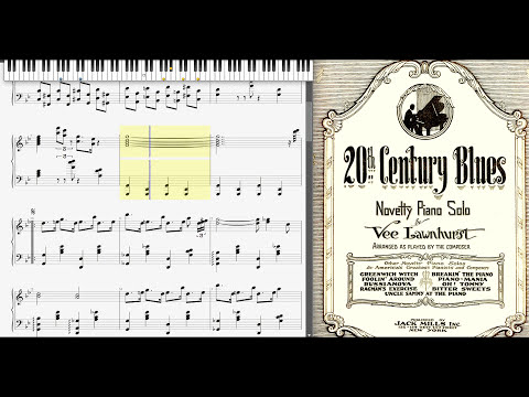 20th Century Blues  Vee Lawnhurst 1923, Jazz piano