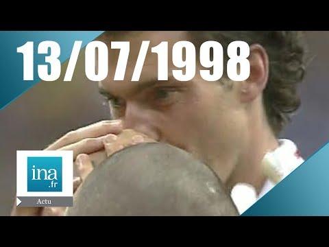 JT France 2 20H  EMISSION DU 13 JUILLET 1998 - Les Bleus champions du monde  - archive vidéo INA