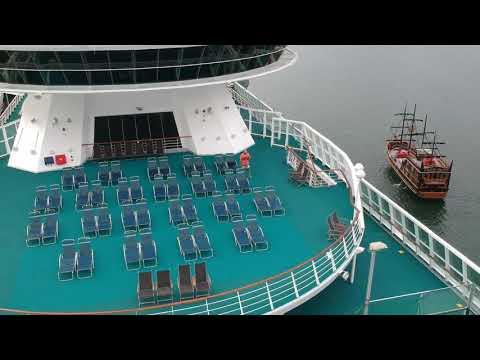 DJI Spark- taking off from a cruise decolando de um cruzeiro parte1