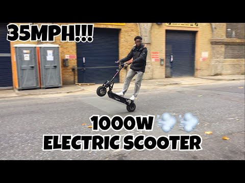 REVIEW OF MY NEW 1000w (ELECTRIC SCOOTER) 30MPH