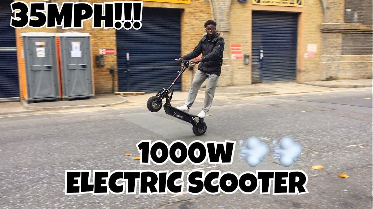 Review Of My New 1000w Electric Scooter 30mph Wheelie Kay