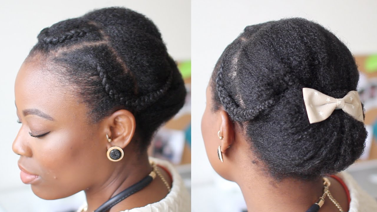 Braided Updo Styles For Natural Hair: Elegant Updo For Natural Hair