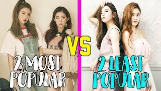 2 most popular vs 2 least popular members in girl groups part 1