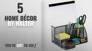 Top 10 Home Décor By Halter [ Winter 2018 ]: Halter Steel Mesh Desk Organizer Supply Caddy with 6