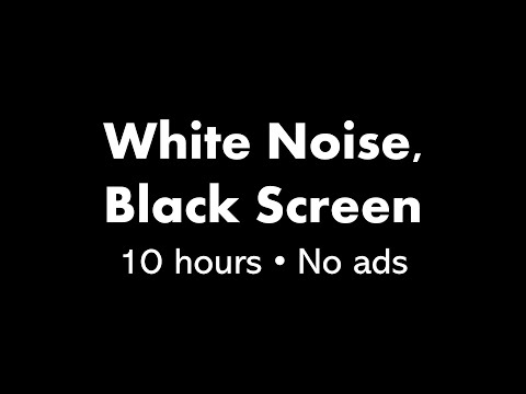 White Noise, Black Screen (10 hours)