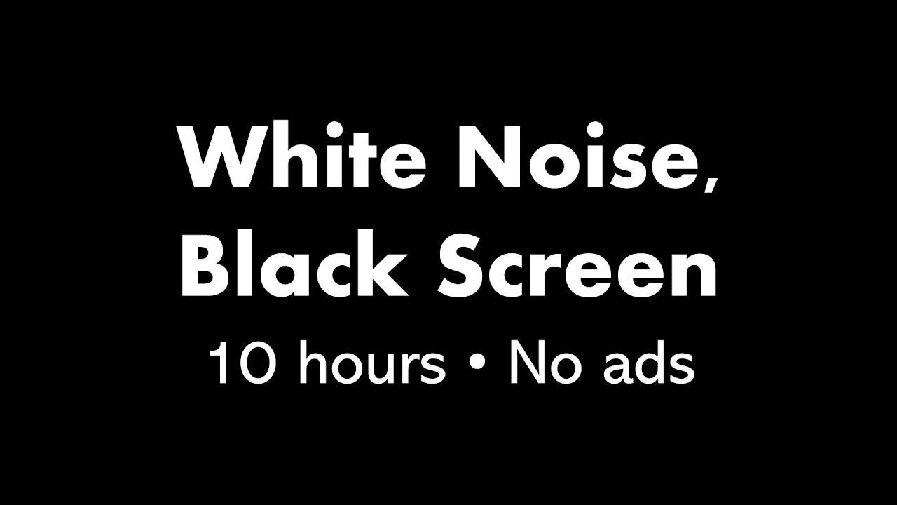 Pure Black Wallpaper White Noise Black Screen 10 Hours Youtube
