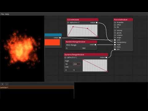 Talos Particle Editor - LibGDX Node Based Editor+Runtime