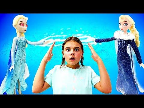 В гостях у Анны и Эльзы - Двойник Эльзы. Холодное сердце - Мультики с куклами 1 серия