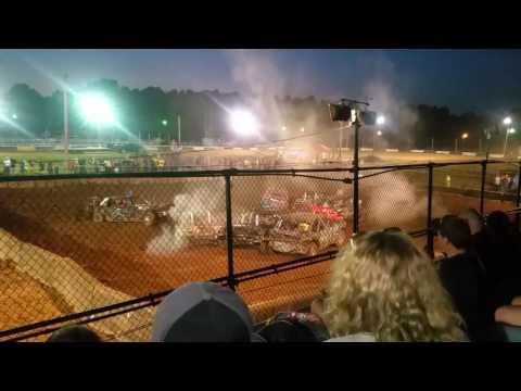 Salem Indiana fair demolition derby. 6-25-16