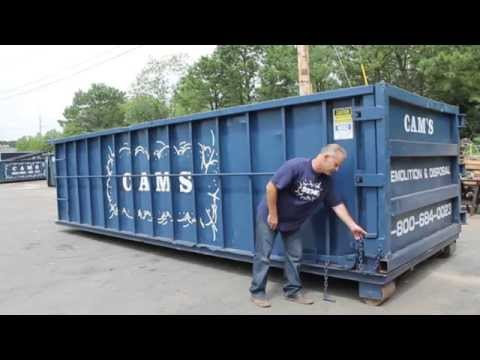How to Open a Dumpster Door - Cam's Dumpster New Hampshire