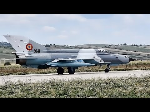 Romanian MIG-21 LanceR Fighter Jets Takeoff + Cockpit Video