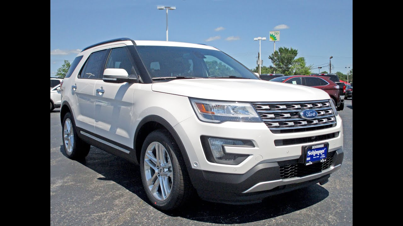 2016 Ford Explorer Limited 4wd Review Walk Around Exterior Interior Features