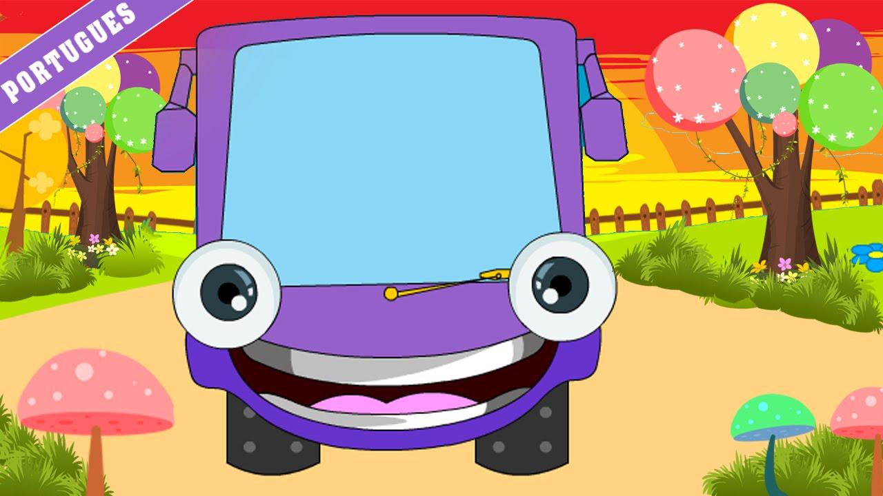 Wheels On The Bus Go Round And Portuguese Nursery Rhyme Canções Infantis You