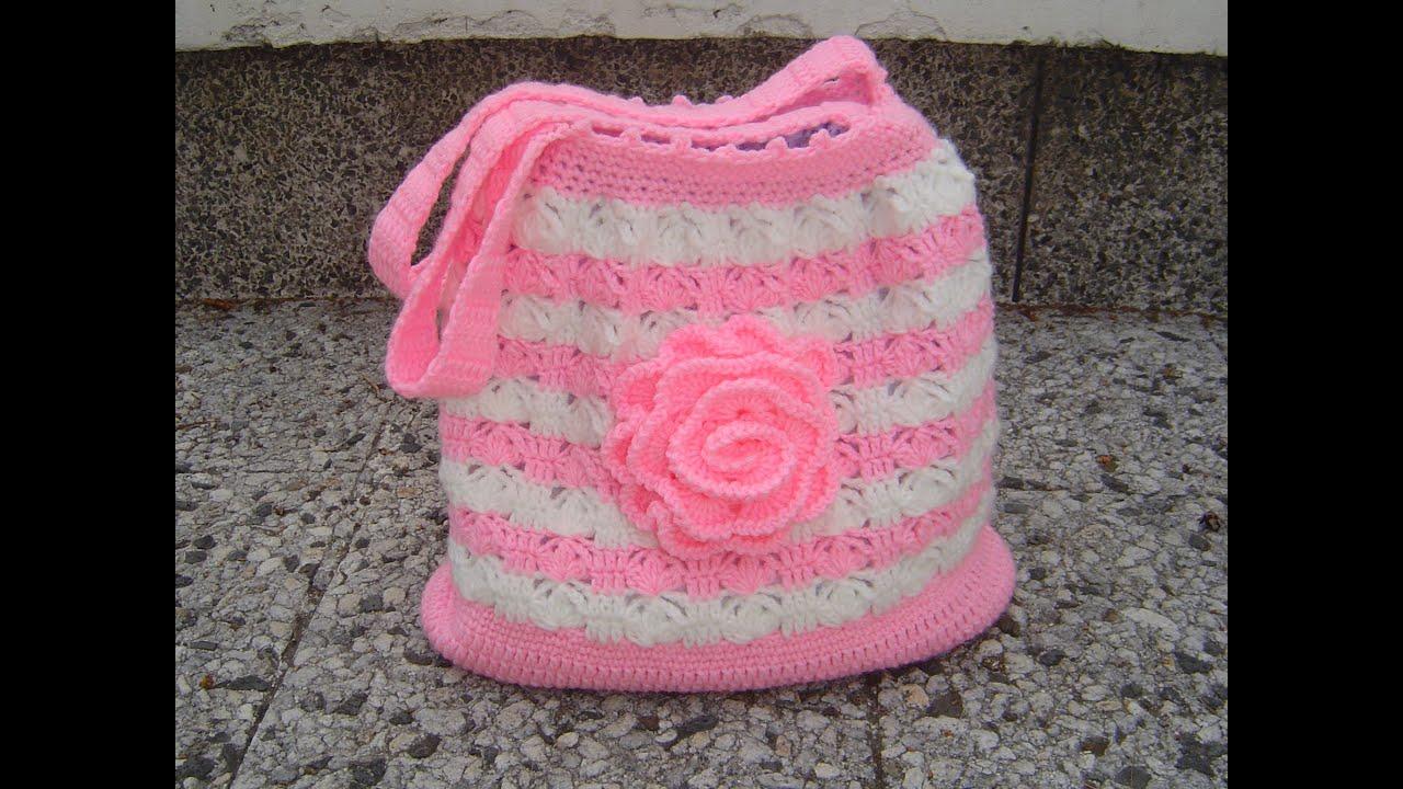 Tutorial bolso tejido a crochet paso a paso parte 2 2 - Como hacer bolsos tejidos ...