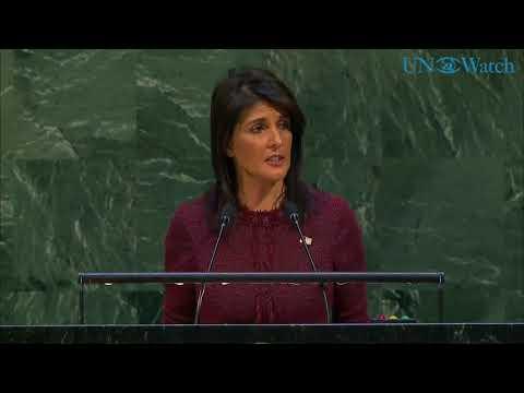 Nikki Haley's speech condemning UNGA vote against U.S. decision on Jerusalem
