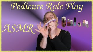Deluxe Pedicure ~ Foot Massage Role Play ASMR Nail Salon