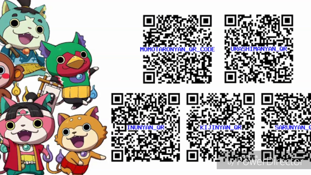 Yo Kai Watch Busters Essentials Qr Codes 2 Yo Kai Watch Qr Codes
