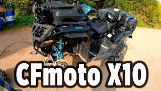 CFMOTO X10 чистим радиатор, меняем резину, замена колодок.