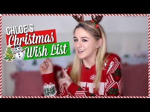 Chloe's Christmas Wishlist // 24 Days of Chloe // Chloe Lukasiak