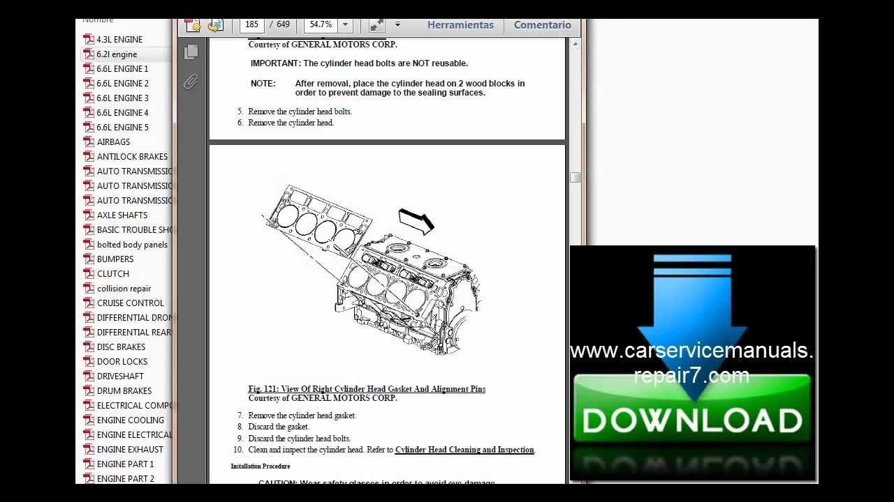 small resolution of chevrolet silverado 2007 2008 2009 service manual and repair manual mp4 youtube