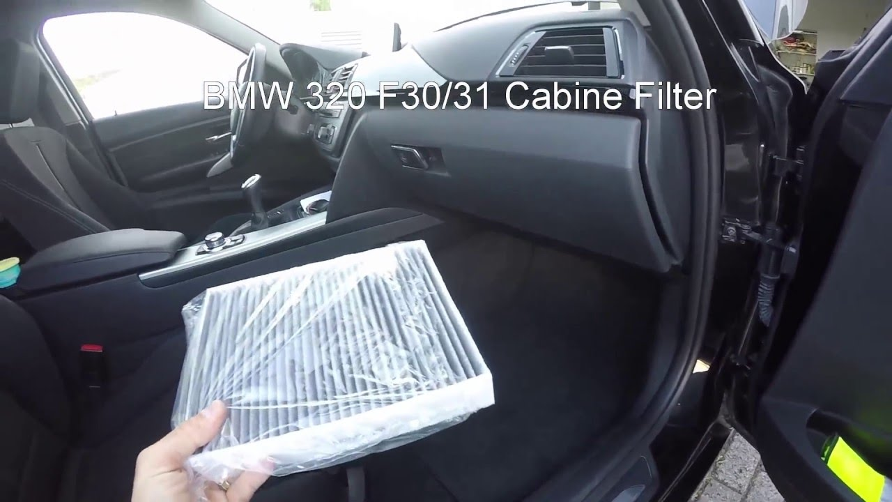Bmw 320 Cabine Filter F30 F31 Replacement Youtube