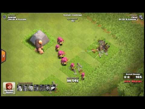 Clash of clans friendly battle #1