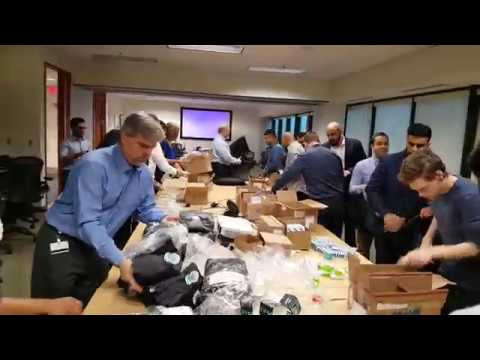 Team Iceberg assembles hygiene kits for Food bank and Youth Services Bureau