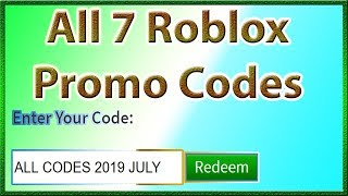 All Promo Codes for Roblox *7 CODES!! * | 2019 July