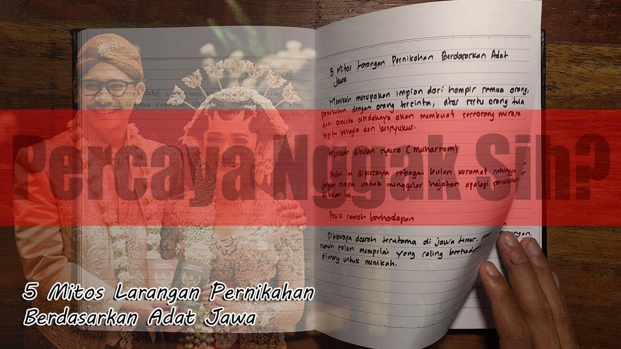 Download 5 Mitos Larangan Pernikahan Berdasarkan Adat Jawa - Weton Jawa