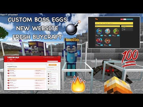 🔥  CUSTOM BOSSES SHOWCASE + NEW WEBSITE AND BUYCRAFT (50% OFF SALE)  | TrojanPvP Server UPDATES # 5