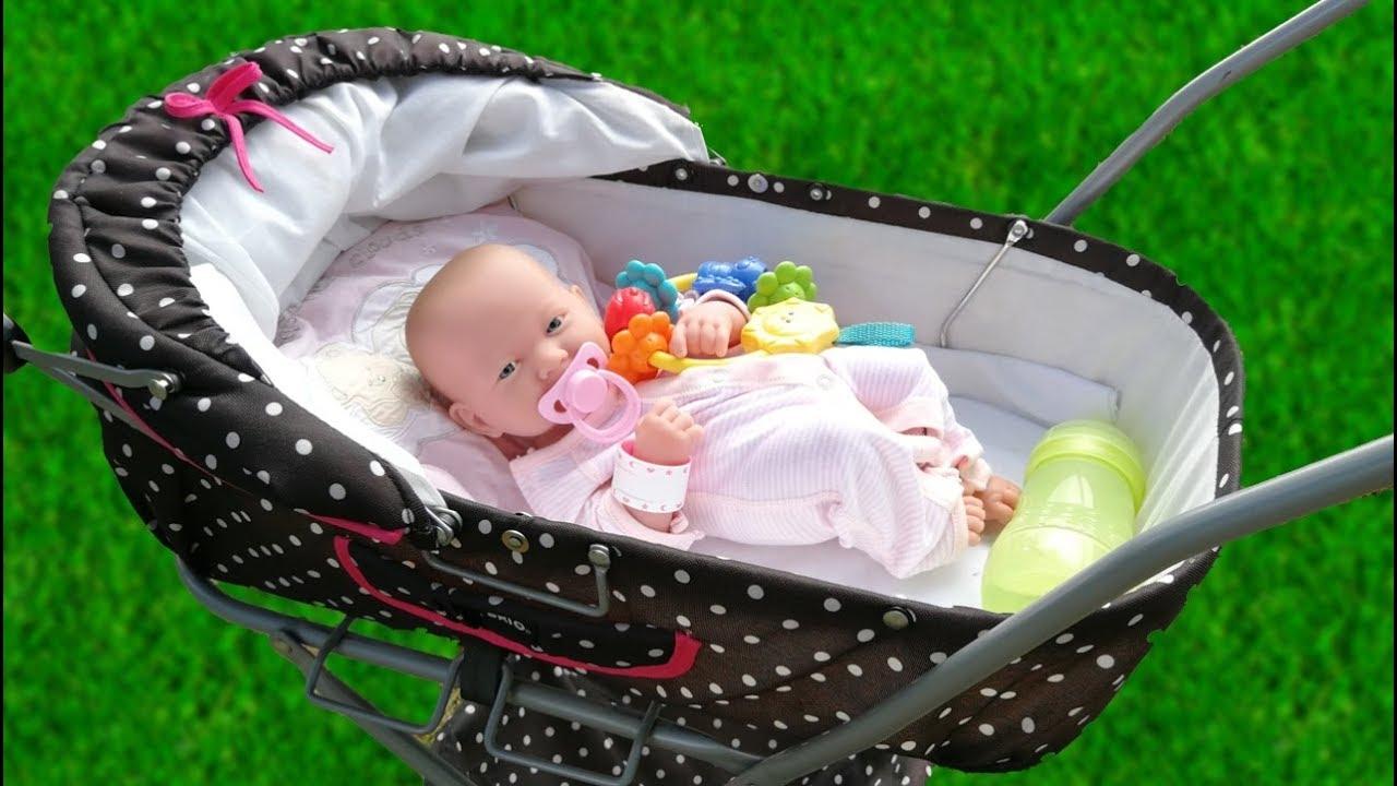 Кукла Реборн Первая Прогулка в Коляске Детская Площадка ...