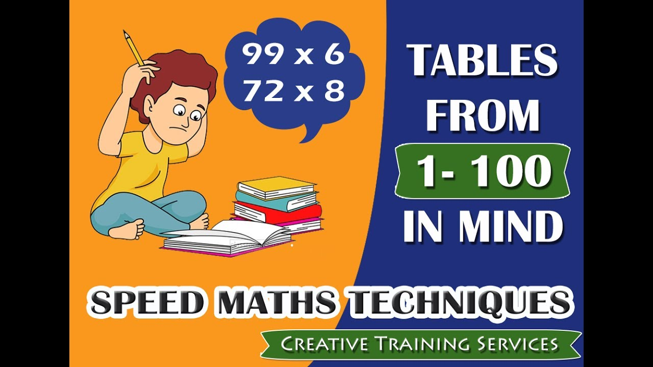 How to memorize tables up to 100 in mind human calculator how to memorize tables up to 100 in mind human calculator speed math trick gamestrikefo Gallery