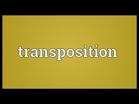 Transposition Meaning