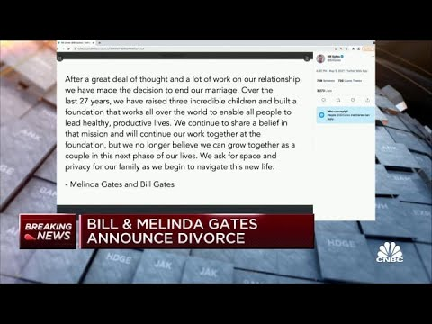 Bill Gates announces divorce from Melinda Gates