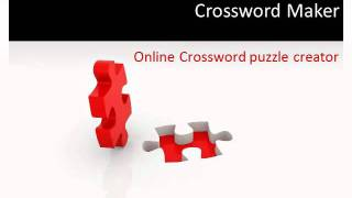 Crossword Maker   Online Crosswords Puzzle Compiler