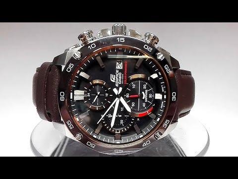705ca821530f Casio Edifice EFS-S500BL-1AV Saphire Solar powered watch video 2018 ...