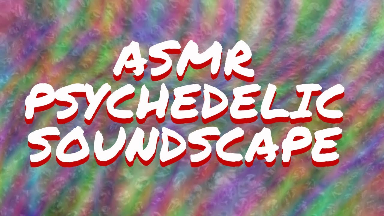 ASMR Psychedelic Ambient Soundscape   Stretched Crinkle and Water Sounds for Sleep