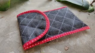 Quilted Phone Cover Making| Step by Step Tutorial (Easy Method)