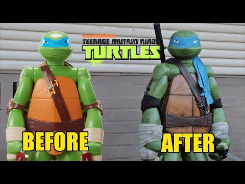 Jackks Pacific Colossal TMNT Leonardo Makeover- Chris' Custom Collectables!