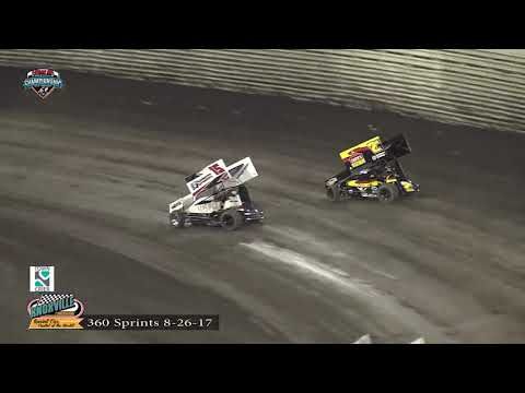 Knoxville Raceway 360 Highlights - August 26, 2017