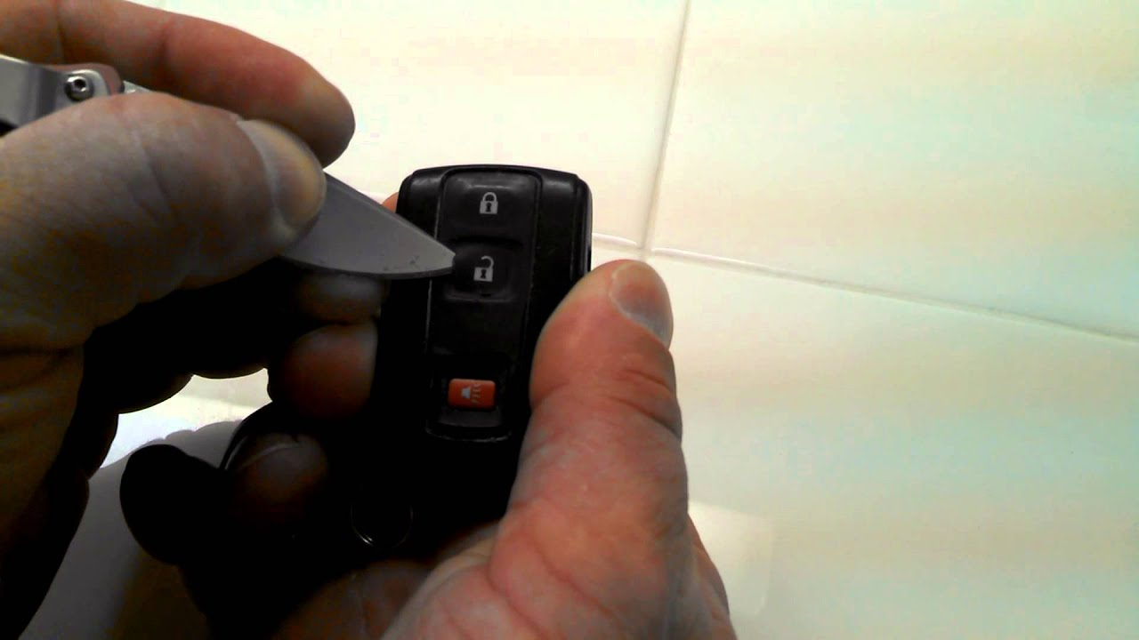 HOW TO FIX A STUCK UNLOCK BUTTON FOR PRIUS KEY FOB