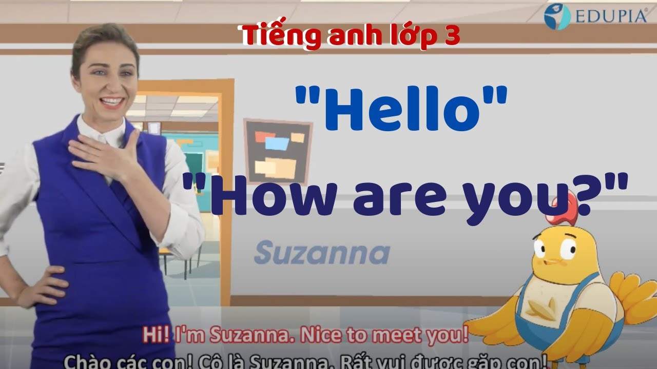 Học tiếng anh lớp 3 Unit 1: Hello - How are you?