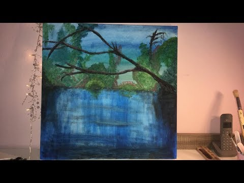 First time with acrylic paint on canvas. Landscape | Ego perspective. ART