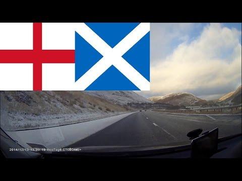 Timelapse driving in England & Scotland - English West Midlands to Scottish Highlands