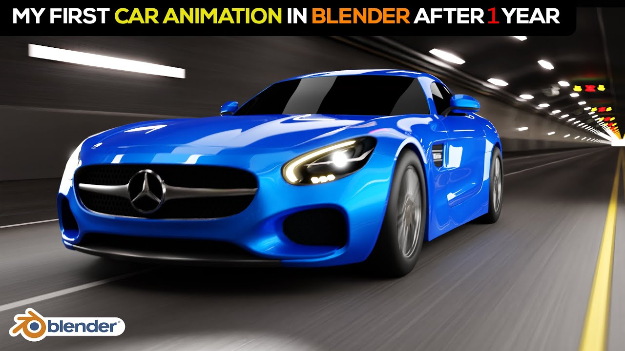 After Learning 1 Year of 3D Modeling Cars I Did My First Car Animation | Blender 3D