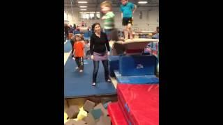 At gymnastics.