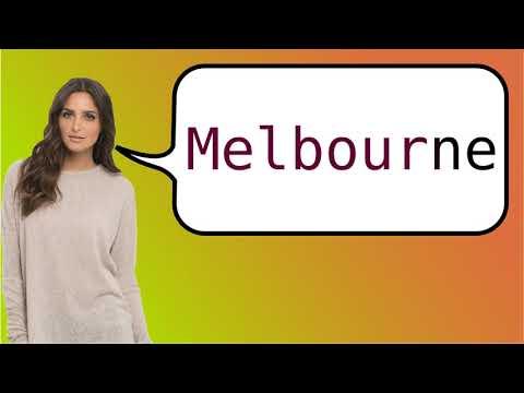 Como dizer 'Melbourne' em ingles?