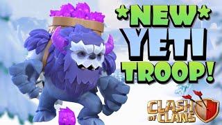 NEW TH13 YETI TROOP! Exploring the New YETI Troop - TH13 Sneak Peak #4