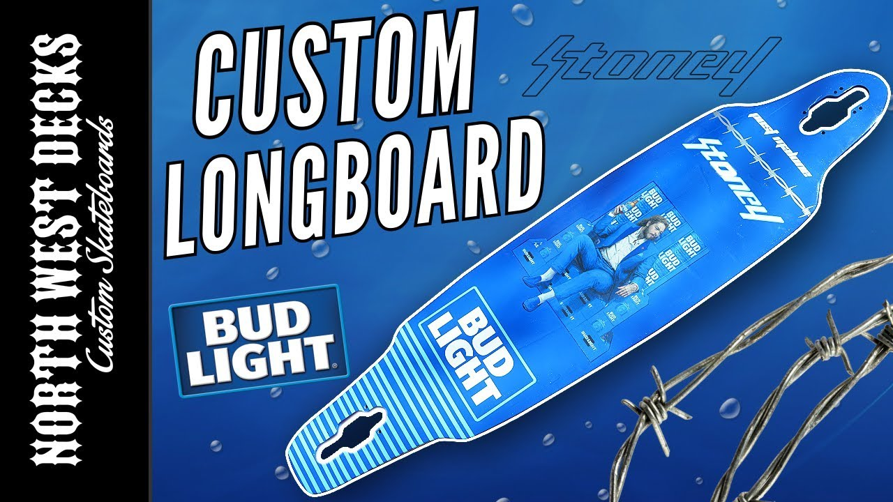 bud light post malone longboard custom
